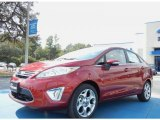2013 Ruby Red Ford Fiesta Titanium Sedan #73054320
