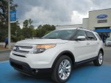 2013 White Platinum Tri-Coat Ford Explorer Limited 4WD #73054312