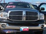 2008 Brilliant Black Crystal Pearl Dodge Ram 1500 Big Horn Edition Quad Cab #7272358