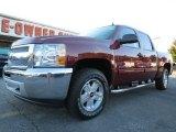 2013 Deep Ruby Metallic Chevrolet Silverado 1500 LT Crew Cab 4x4 #73054519