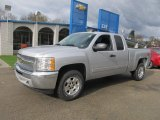 2013 Silver Ice Metallic Chevrolet Silverado 1500 LT Extended Cab 4x4 #73054272