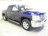 2013 Blue Topaz Metallic Chevrolet Silverado 1500 LT Crew Cab 4x4 #73054632