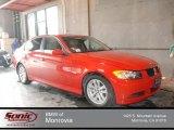 2006 Electric Red BMW 3 Series 325i Sedan #73054506