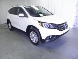 2013 White Diamond Pearl Honda CR-V EX-L AWD #73054621
