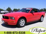 2007 Torch Red Ford Mustang V6 Deluxe Convertible #7286834