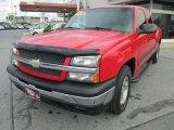 2005 Victory Red Chevrolet Silverado 1500 Z71 Extended Cab 4x4 #73054609