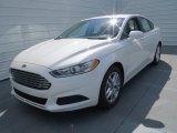 2013 Ford Fusion White Platinum Metallic Tri-coat