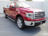 2013 Ruby Red Metallic Ford F150 Lariat SuperCrew 4x4 #73054482