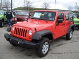 2013 Jeep Wrangler Unlimited Rock Lobster Red