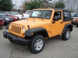 2013 Jeep Wrangler Unlimited Dozer Yellow