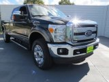2012 Green Gem Metallic Ford F250 Super Duty Lariat Crew Cab 4x4 #73054475