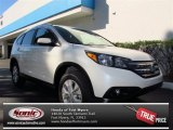 2013 White Diamond Pearl Honda CR-V EX-L AWD #73054091