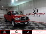 2007 Flame Red Dodge Ram 1500 SLT Quad Cab #73054208