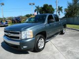2008 Blue Granite Metallic Chevrolet Silverado 1500 LT Crew Cab #73054581