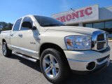 2008 Cool Vanilla White Dodge Ram 1500 Big Horn Edition Quad Cab #73054449
