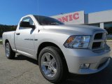 2012 Bright Silver Metallic Dodge Ram 1500 Express Regular Cab #73054446