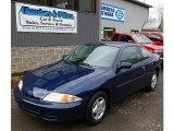 2002 Indigo Blue Metallic Chevrolet Cavalier Coupe #73113656