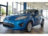 2013 Blue Candy Ford Fiesta SE Hatchback #73113785