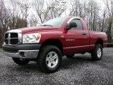 2007 Inferno Red Crystal Pearl Dodge Ram 1500 TRX4 Off Road Regular Cab 4x4 #73113873
