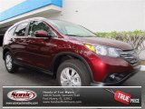 2013 Basque Red Pearl II Honda CR-V EX-L AWD #73113565