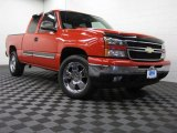 2007 Victory Red Chevrolet Silverado 1500 Classic LS Extended Cab 4x4 #73113776