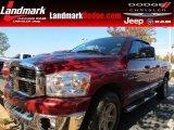 2007 Inferno Red Crystal Pearl Dodge Ram 1500 SLT Quad Cab #73142581