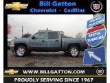 2013 Blue Granite Metallic Chevrolet Silverado 1500 LT Crew Cab 4x4 #73142905