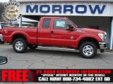 2012 Vermillion Red Ford F250 Super Duty XLT SuperCab 4x4 #73142534