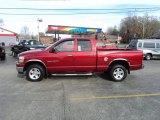 2006 Inferno Red Crystal Pearl Dodge Ram 1500 SLT Quad Cab 4x4 #73142781