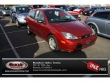 2003 Sangria Red Metallic Ford Focus ZX3 Coupe #73180061