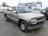 2000 Light Pewter Metallic Chevrolet Silverado 1500 LS Regular Cab 4x4 #73180779