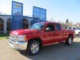2013 Victory Red Chevrolet Silverado 1500 LT Extended Cab 4x4 #73180251