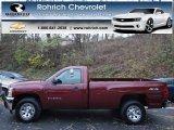 2013 Deep Ruby Metallic Chevrolet Silverado 1500 Work Truck Regular Cab 4x4 #73180730
