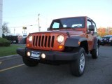 2011 Mango Tango Pearl Jeep Wrangler Sport 4x4 #73180427