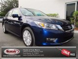 2013 Obsidian Blue Pearl Honda Accord EX-L V6 Sedan #73180102