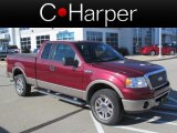 2006 Dark Toreador Red Metallic Ford F150 Lariat SuperCab 4x4 #73180087