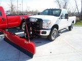 2012 Oxford White Ford F250 Super Duty XL Regular Cab 4x4 Plow Truck #73233659
