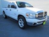 2008 Bright White Dodge Ram 1500 Lone Star Edition Quad Cab #73233442