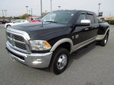 2010 Brilliant Black Crystal Pearl Dodge Ram 3500 Laramie Mega Cab 4x4 Dually #73233741