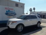 2013 White Platinum Tri-Coat Ford Explorer XLT #73233210