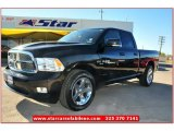 2010 Brilliant Black Crystal Pearl Dodge Ram 1500 Sport Quad Cab #73233510