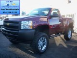 2013 Deep Ruby Metallic Chevrolet Silverado 1500 Work Truck Regular Cab 4x4 #73288811