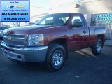 2013 Deep Ruby Metallic Chevrolet Silverado 1500 Work Truck Regular Cab 4x4 #73288810
