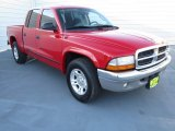 2004 Flame Red Dodge Dakota SLT Quad Cab #73289014