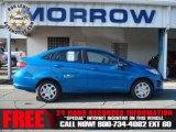 2013 Blue Candy Ford Fiesta SE Sedan #73288894