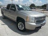 2009 Silver Birch Metallic Chevrolet Silverado 1500 LS Crew Cab #73288858