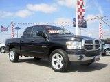 2008 Brilliant Black Crystal Pearl Dodge Ram 1500 Big Horn Edition Quad Cab #7272353