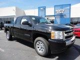 2011 Black Chevrolet Silverado 1500 LS Extended Cab 4x4 #73347775