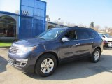 2013 Atlantis Blue Metallic Chevrolet Traverse LTZ AWD #73347626