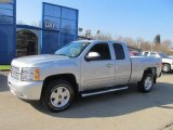 2013 Silver Ice Metallic Chevrolet Silverado 1500 LT Extended Cab 4x4 #73347622